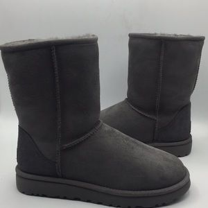 UGG Classic Short Grey Suede Boots